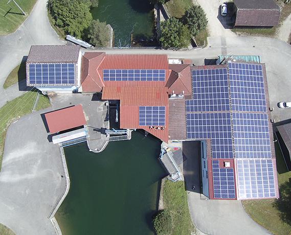 Photovoltaikanlage am Kraftwerk Hart