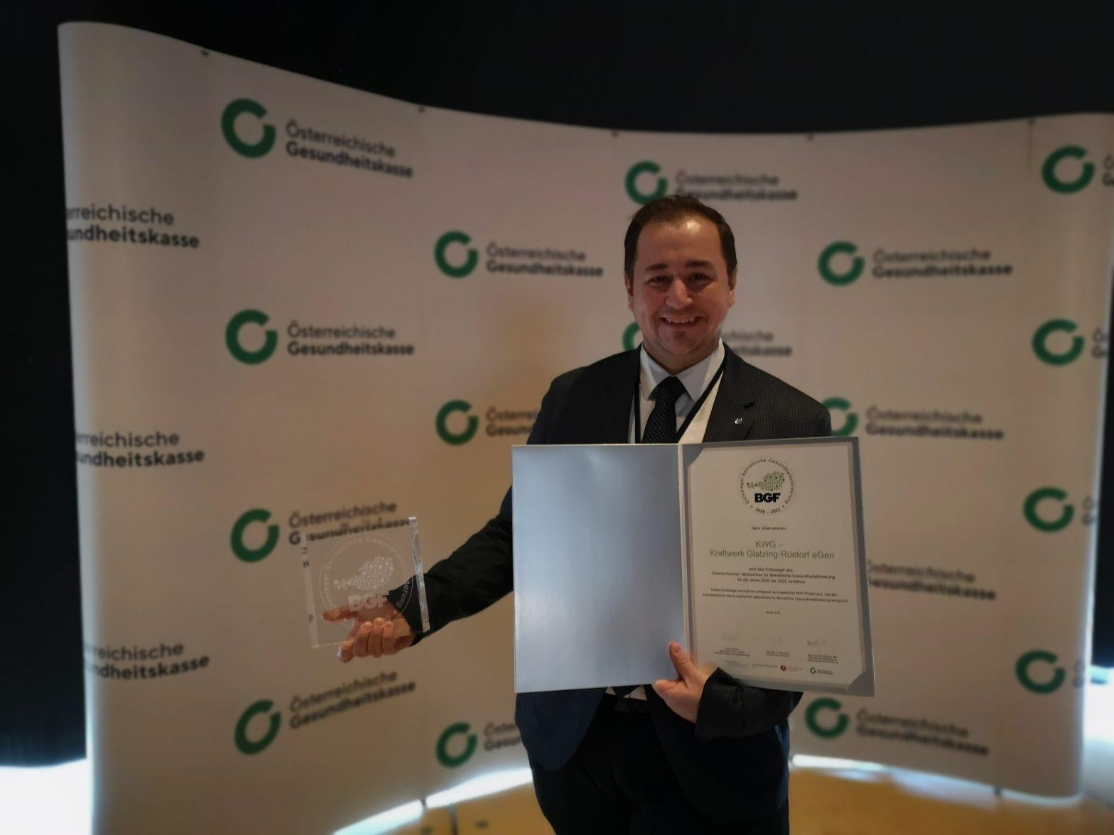 Auszeichnung mit BGF Gütesiegel